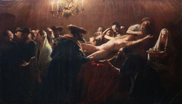 Az eltitkolt kép - Munkácsy Mihály - Zsidó vérgyilkosság - 1883
