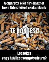 FIDESZ CIGARETTA PLAKAT