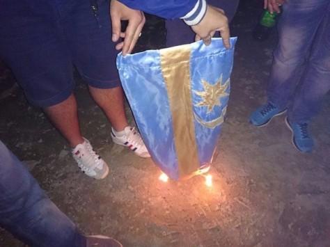 zászlóégetés - székely
