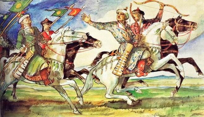 Honfoglaló lovasok (Forrás: László Gyula: Árpád Népe)