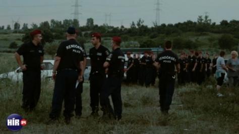 Akcióban a rendőrség Martonfán