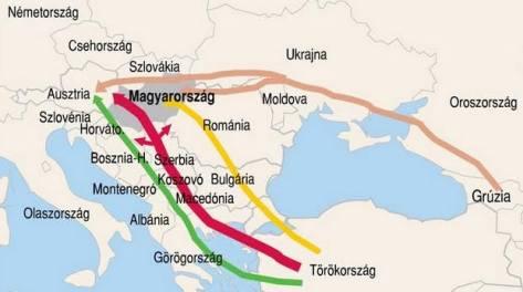 5. Magyarországi célponttal szervezett migrációs utvonalak