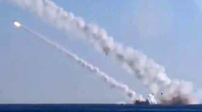 Az oroszok a Földközi tengerről, először támadták cirkáló rakétákkal az IÁ állásait
