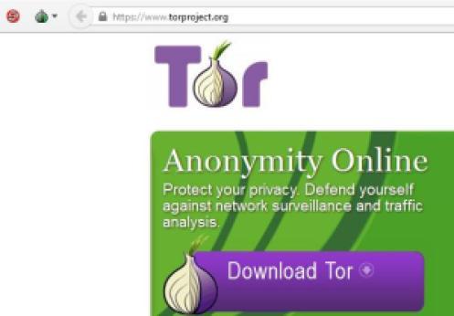 Tor-Project beállító gombjai a bal felső sarokban