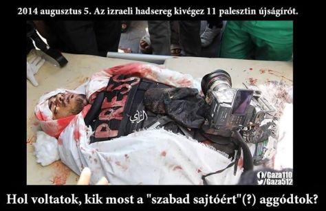 Izrael és a szólásszabadság: 11 kivégzett palesztin újságíró