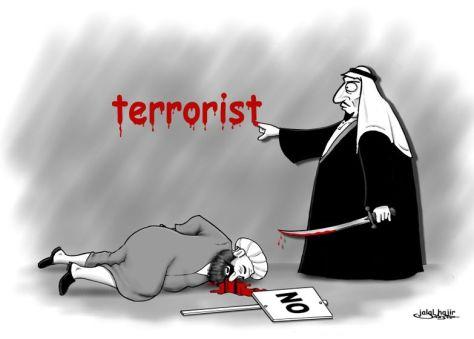 Szaúd-Arábia: Minden tüntetőre ráfogják, hogy terrorista. Es ha már terrorista, akkor az antiterror háborúban, mint George W. Bush lelkes tanítványai, a szaúdiak ki is végzik!