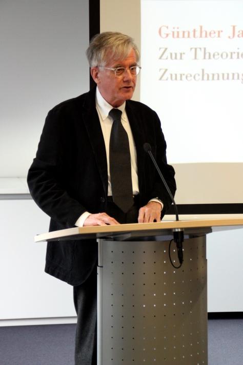Günther Jakobs német jogfilozófus professzor