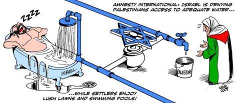 """A víz """"igazságos"""" elosztása Izraeliek és palesztinok között"""