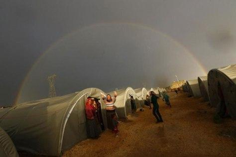 Kurd menekült tábor Irakban
