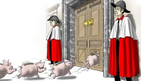 Itt is a lobbisták pénze tesz tönkre mindent! Sok millió CHF vándorol be az országházba (Bundeshaus).