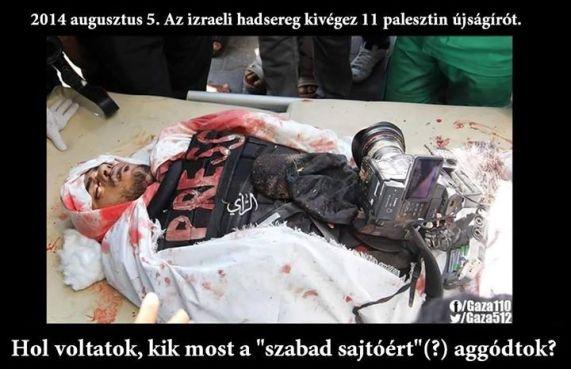 11 kivégzett palesztin újságíró