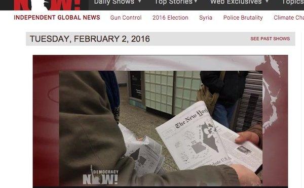 Csíny New York Times – lapot osztogattak New Yorkban.