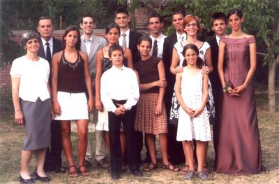 Balczó András családja körében