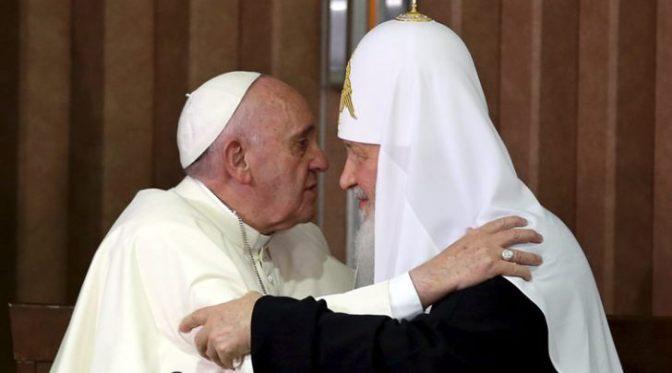 Ferenc pápa és Kirill pátriárka találkozójához