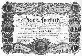 Kossuth bankó első oldal