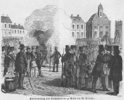 Kossuth bankók égetése 1849 október