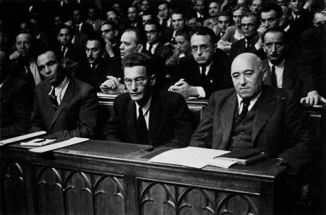 Rajk László, Révai József és Rákosi Mátyás az Ideiglenes Nemzetgyűlés megnyitásán, 1945 szeptember 5
