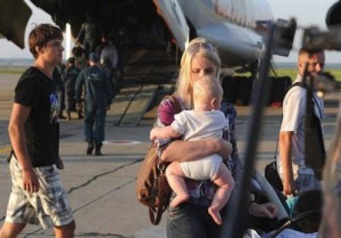 Ukrán menekültek Lengyelországban