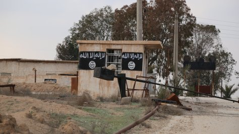 ash-Shaddadi ellenőrzési pont, az IÁ csapatainak elmenekülése után