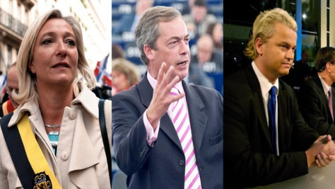 Marine LePen - francia Front National Farage - angol Wilderers - Holland