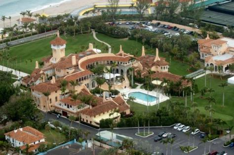 Trump csaladi hàza: Mar-a-Lago the estate of Donald Trump in Palm Beach Fla.