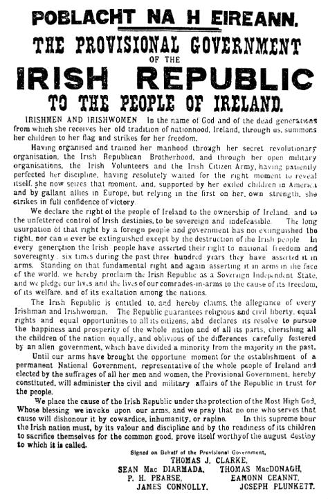 Az Ír Köztársaság kikiáltása