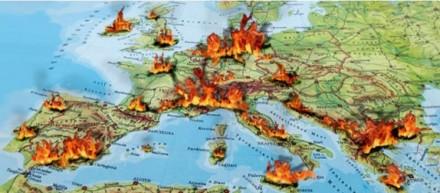 Polgárháborús feszültség zónák az EU-tagállamaiban.