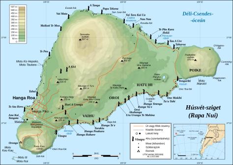 Húsvét–sziget térképe