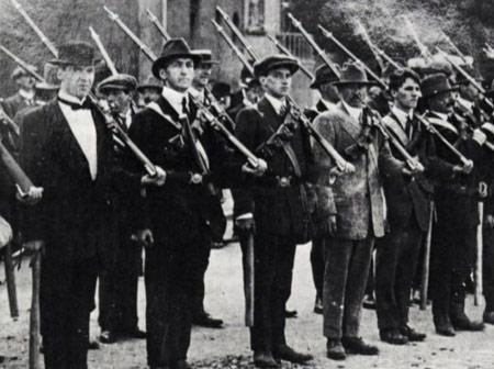 ír felkelők a brit világhatalom ellen; 1916 húsvét hétfője
