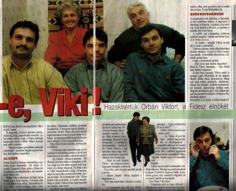 Orbán Viktor és családja a Kiskegyed 1993/51. számában