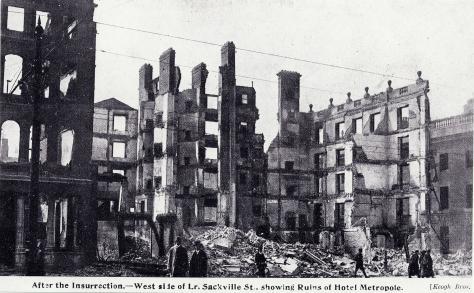 Sackville út, Dublinban az 1916-os húsvéti felkelés leverése utan