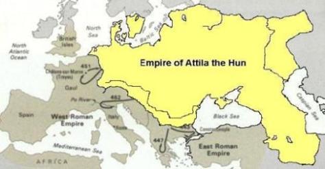 A hun Atilla birodalma