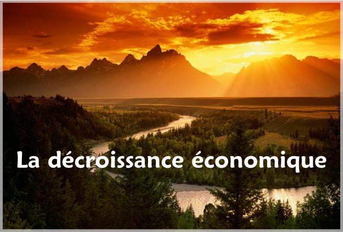 la decroissande d'economie