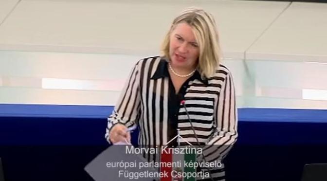"""""""Korrupt haveri körök kapják az EU pénzek jelentős részét…"""" – mondta Morvai Strasbourgban"""
