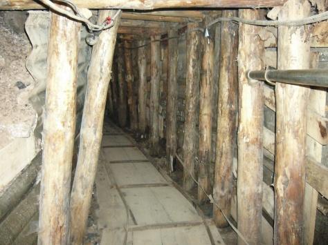 A szarajevói alagút egyik föld alatti szakasza
