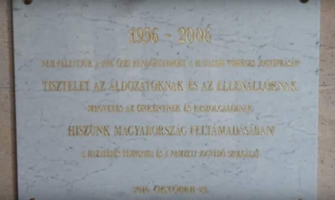 Nemzeti jogvédő emléktábla a 2006 őszi rendőrterror áldozataink és ellenállóinak
