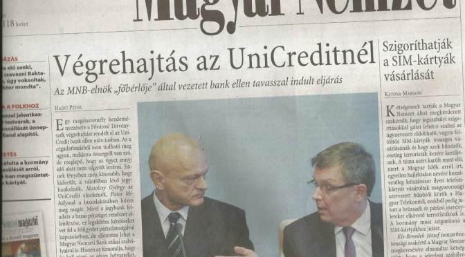 Kicenzúrázta a Bankcsapda Egyesület közleményét az MTI – úgy tűnik, a UniCredit érinthetetlen