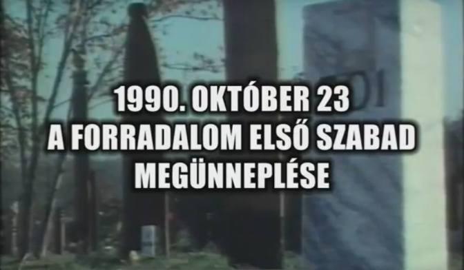 Egy eddig még soha nem látott dokumentumfilm: 1990. október 23. – Az Első Szabad Ünnep