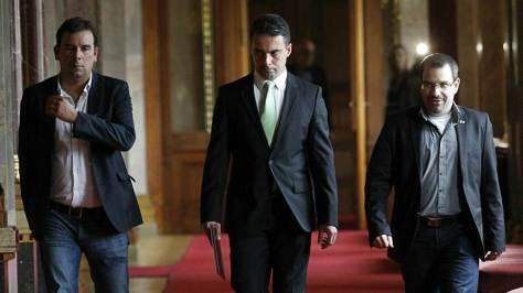 Vona Gábor, a Jobbik elnöke a miniszterelnökkel való egyeztetésre érkezik Fotó: Nagy Béla / Magyar Nemzet
