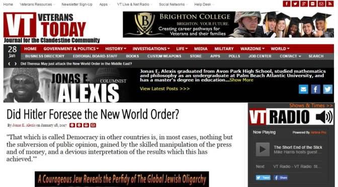 Hitler előre látta az Új Világrendet?
