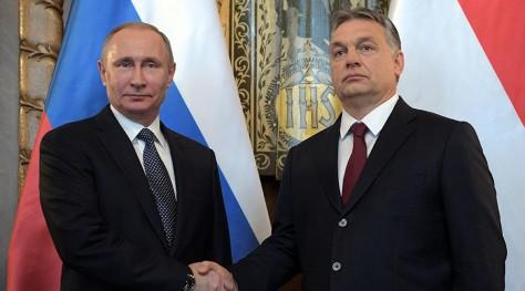 Russian President Vladimir Putin and Hungarian Prime Minister Viktor Orban, Budapest, Hungary, February 2, 2017. © Alexei Druzhinin / Sputnik