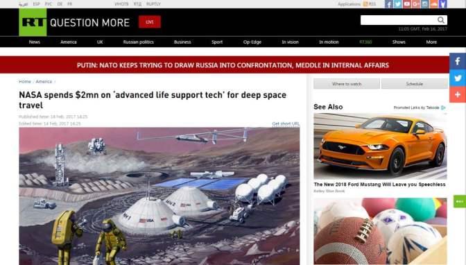 2 millió dollárt költ űrutazáshoz szükséges létfenntartó technikára a NASA