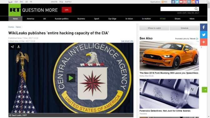 Russia Today: WikiLeaks a titkos CIA megfigyelési módszerekről