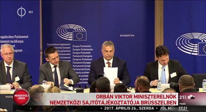 Orbán Viktor brüsszeli sajtótájékoztatója