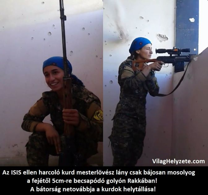 Egy bátor kurd mesterlövész lány (VIDEÓVAL)