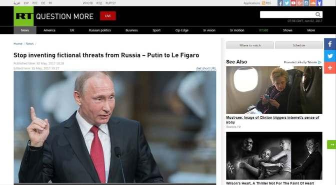 Putyin a Le Figaró-nak: Fejezzék be az orosz fenyegetésekről szóló kitalációkat