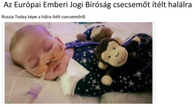 Halálos ítélet egy csecsemő ellen