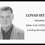 Lovas István temetése