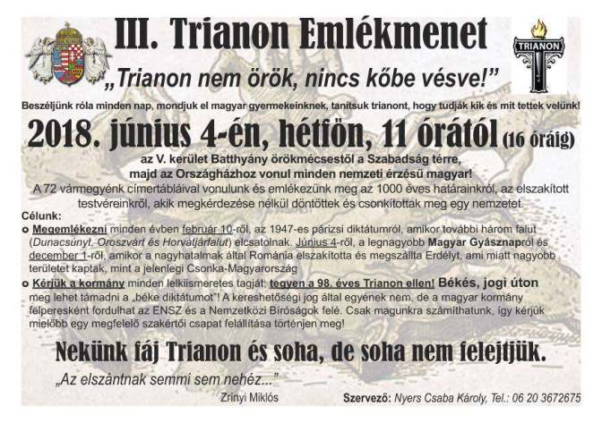 A trianoni-párizsi diktátumok ellenszere a nemzetegyesítés, az EU-SOROS diktátumoké pedig a kilépés !