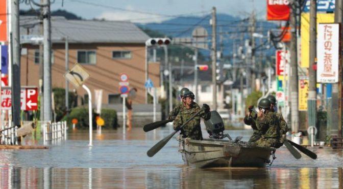 Hatalmas áradás Japánban 🇯🇵 – VIDEÓVAL 📺